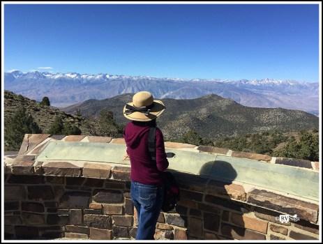 Weiwei Looking at Sierras at Sierra View