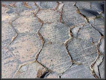 Hexagon Shape of Basaltic Columns