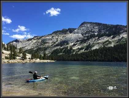 Kayaking on Tanya Lake. Yosemite National Park, California