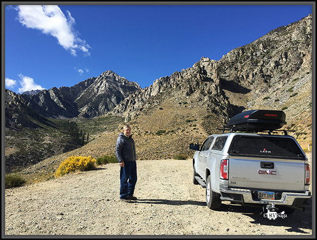 Stephen at Vista Point on Onion Valley Road