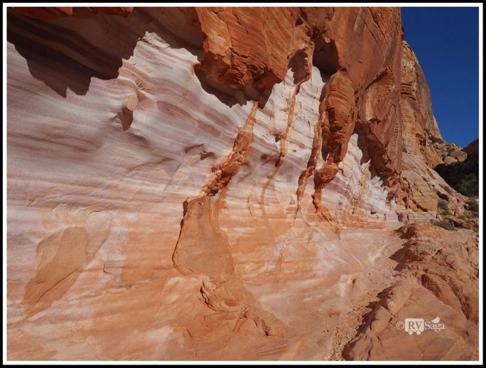 Sandstone Formations Resemble A Layered Cake