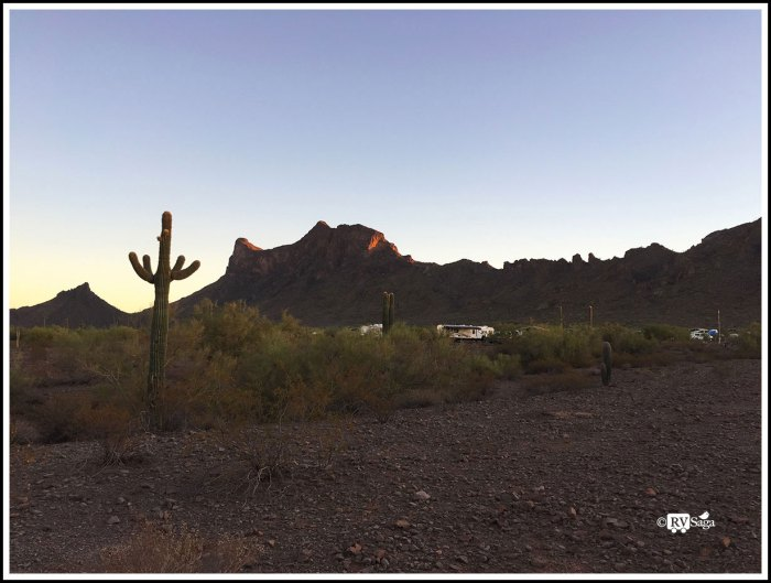 View of Picacho Peak Mountain From the Campground