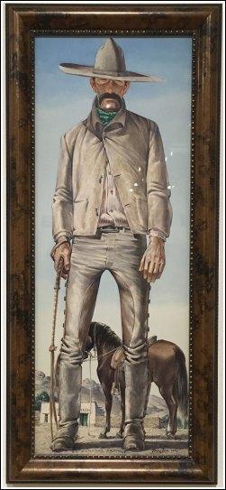 El Domador Sanchez, Watercolor, by Tom Lea