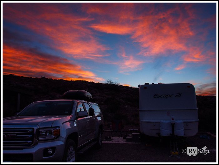 Dawn above Campground