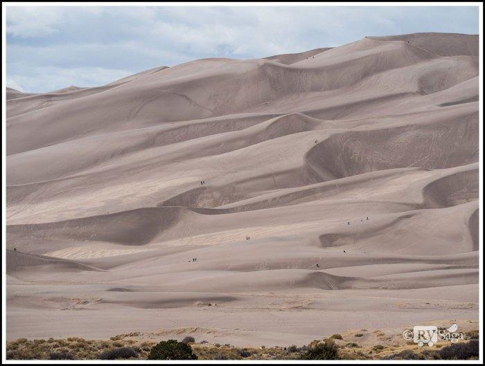 Hikers Ascending Great-Sand-Dunes