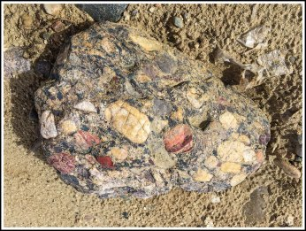 Mosaic Rocks on the Beach by Navajo Lake