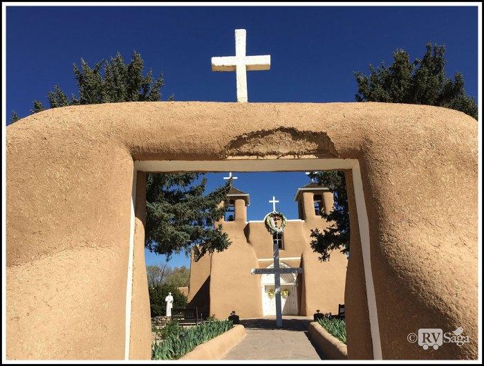 Adobe-Entrance-Framing-San-Francisco-De-Asis-Church