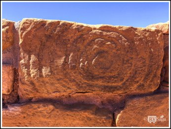 A Sandstone with A Spiral Design. Mesa Verde, Colorado