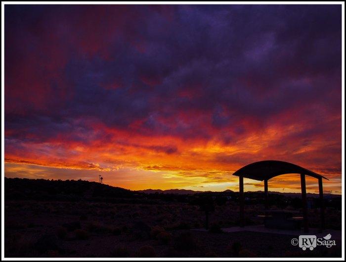 Brilliant-Sunset-at-Cochiti-Lake-Campground