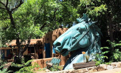A Giant Sculpture of A Horse. By Ronnie Layden