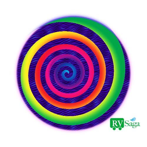 Spiraling-Rainbow-Path