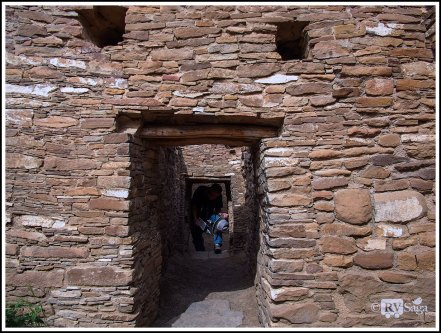 Stephen Going Through The Doorway at Pueblo Bonito