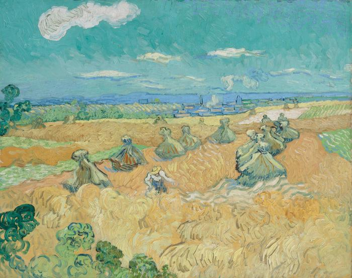 Wheat Fields with Reaper by Vincent van Gogh