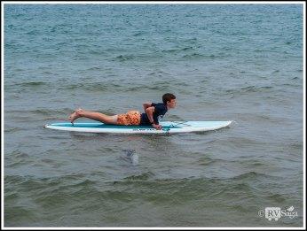 A Boy on Surf Board
