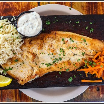 Cedar Plank White Fish with Dill Rice