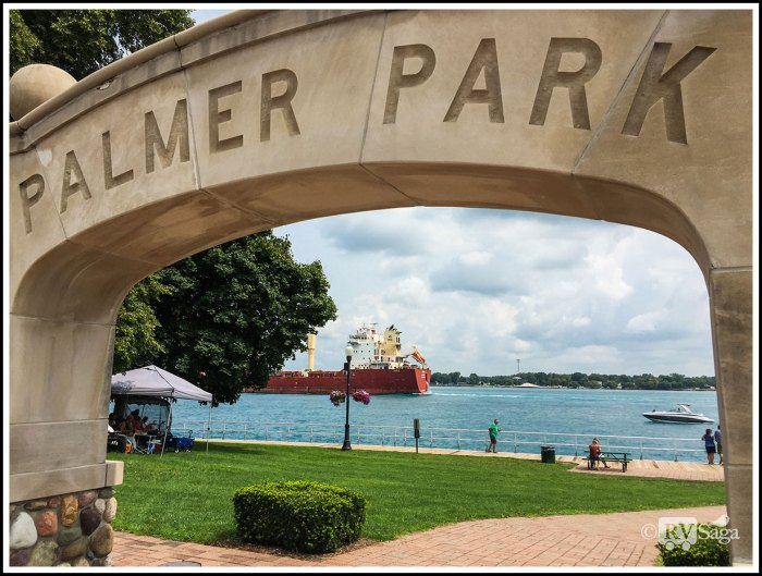 Entrance-at-Palmer-Park-at-St-Clair-Framing-Freighter-Sunda