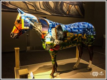 A Painted Horse Commemorating F4 Tornado in 2004
