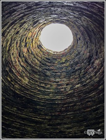 Inside the Charcoal Kiln. Fayette Historic State Park. Michigan