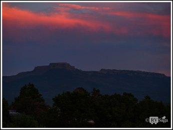 Sunset Above Fisher's Peak at Trinidad. Colorado