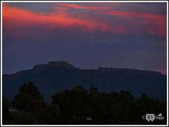 Sunset Above Fisher's Peak at Trinidad. Colorado