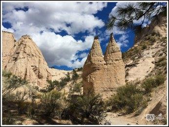 Twin Tent Rocks. Kasha-Katuwe Tent Rocks National Monument