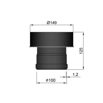EW 100 1,2 mm verloop EW 100 naar EW 150 MM