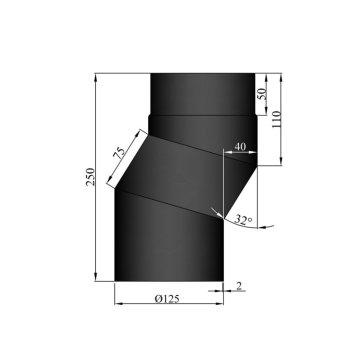 EW 125 2,0 mm versleping 04 cm zwart