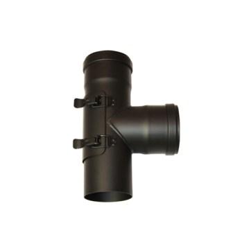 EW 80 1,2 mm T-stuk 90 graden MxFxF met luik exclusief dop