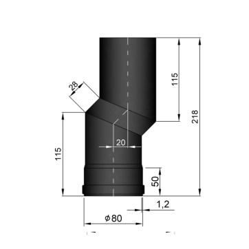 EW 80 1,2 mm verslepingselement 20 mm