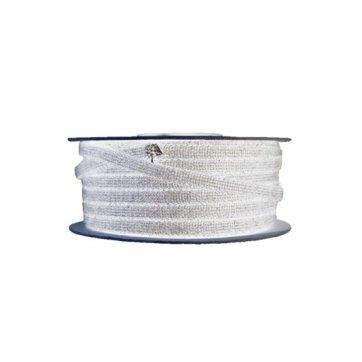 Glasvezelkoord rond 10 mm rol 100 meter wit
