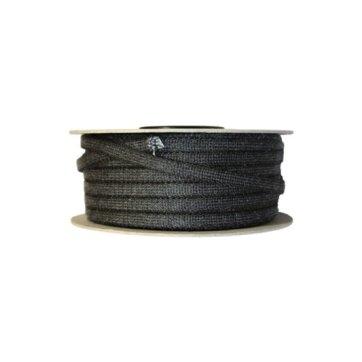 Glasvezelkoord rond 12 mm rol 100 meter zwart