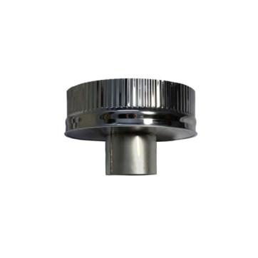 Isotube Plus 150x200 onderaansluitstuk naar 080 mm ZWART