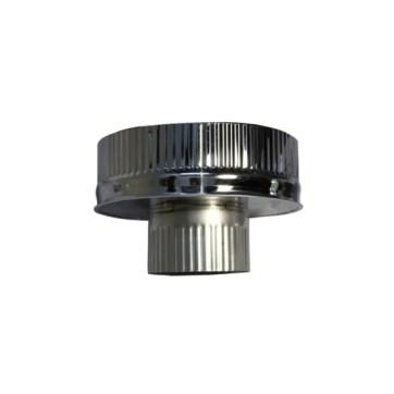 Isotube Plus 150x200 onderaansluitstuk naar 100 mm ZWART