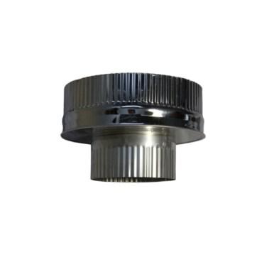 Isotube Plus 150x200 onderaansluitstuk naar 120 mm ZWART