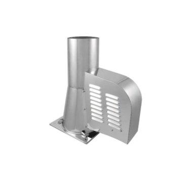 Rookgasventilator 150 mm met vierkante bodemplaat