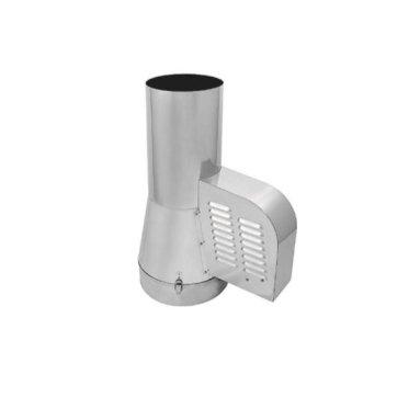 Rookgasventilator 200 mm met ronde aansluiting