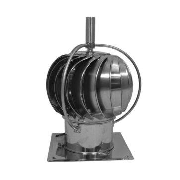 Turbowent draaikap met uitwendige lagers (vierkante plaat, 150 mm)