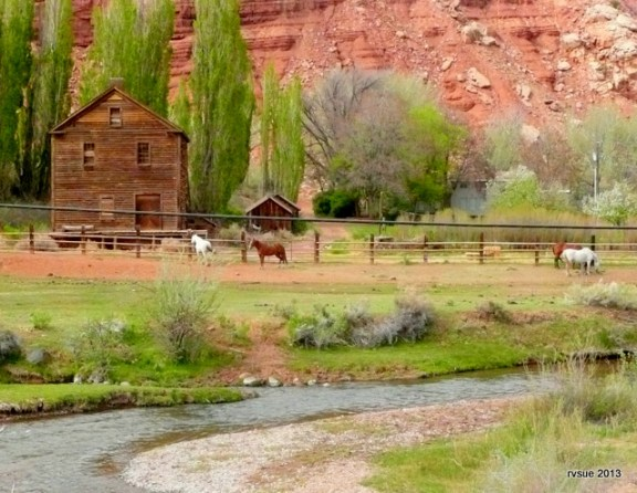 Historic Nielson Grist Mill near Sunglow Campground and Torrey, Utah