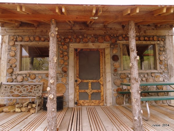 A Cordwood Cabin Built By Father And Son Rvsue And Her