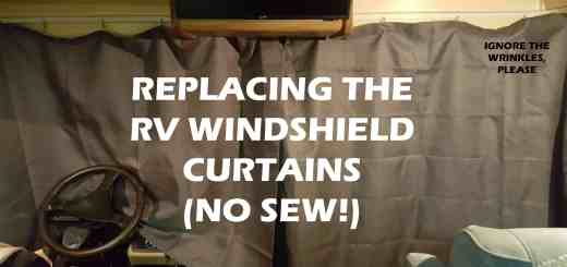Upgrading RV Windshield Curtains