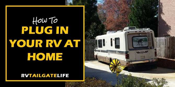 plugging your rv into your home electric system  rv