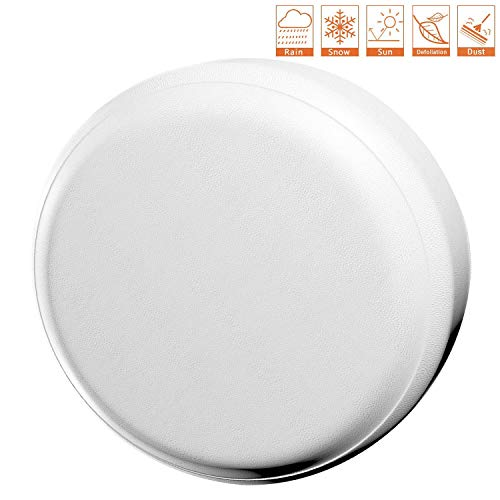RV Spare Tire Cover PVC Leather WaterProof Dust-proof Universal Spare Wheel Tire Cover White Star Fit for Jeep,Trailer SUV and Many Vehicle 14 for diameter 23-27