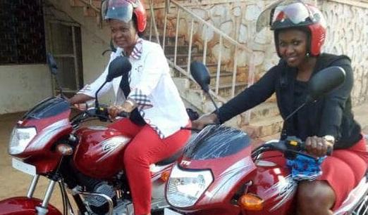 two motor bikes