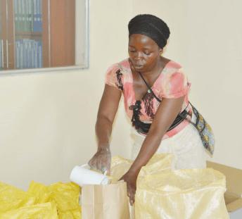 women serving flour