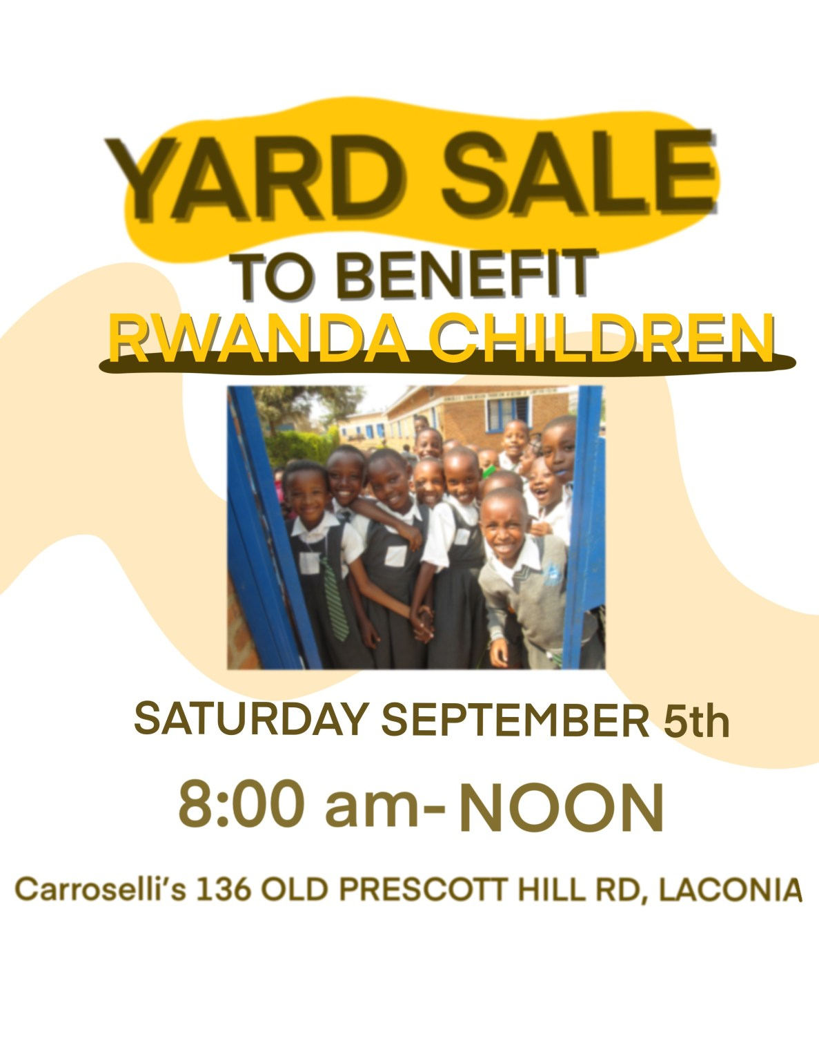 Yard Sale to Benefit RCEF's Commitment to Vulnerable Children