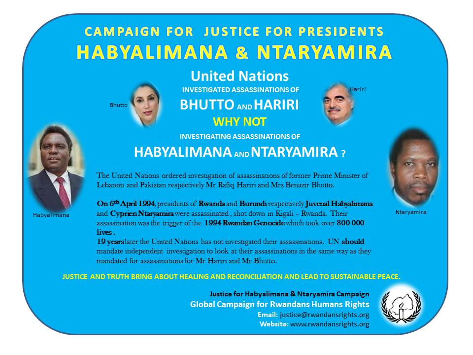 Justice for Habyalimana & Ntaryamira Campaign