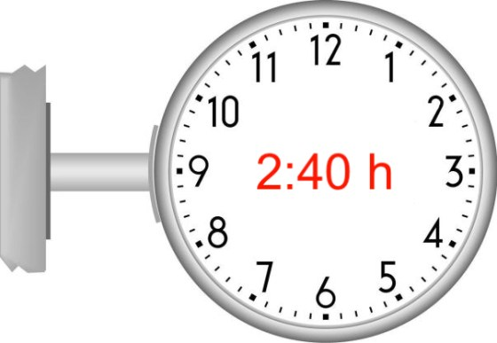 2 Stunden 40 Minuten