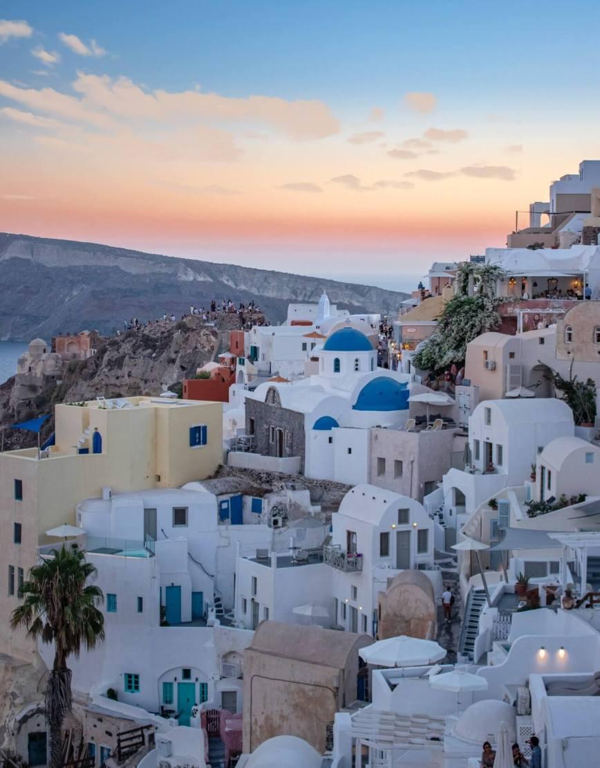 جزيرة سانتوريني - اليونان