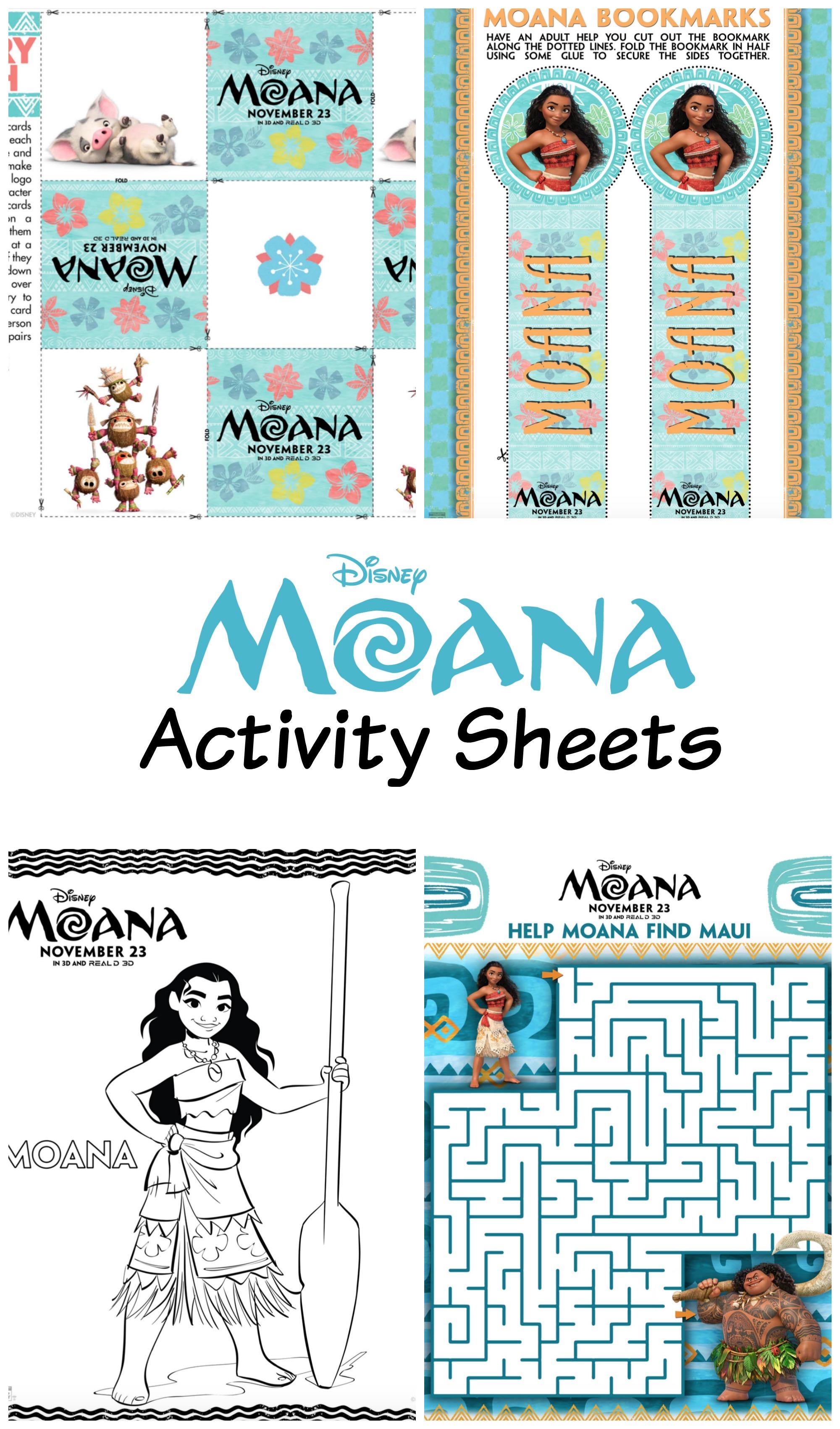 Disney S Moana Activity Sheets Moanaevent