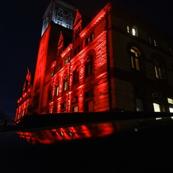 City Hall in Red